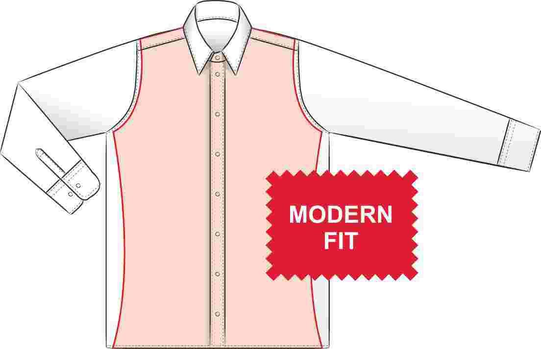 01229d24c54 Pánské slim košile eterna s prodlouženým rukávem - doprava zdarma