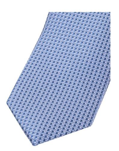 Slim kravata Olymp - svetlomodrá s votkaným vzorom