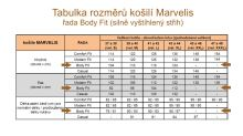 Marvelis Body Fit – bílá košile - krátký rukáv