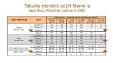 Marvelis Body fit - tmavomodrá košeľa s oranžovo-modrým vzorom - predĺžený rukáv