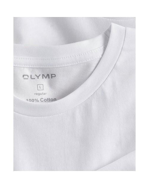 7d7a3157171e Biele bavlnené tričko Olymp s krátkym rukávom - kulatý výstrih (2 ks)