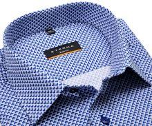 Eterna Slim Fit – košeľa s modrým tľačeným vzorom – extra predĺžený rukáv