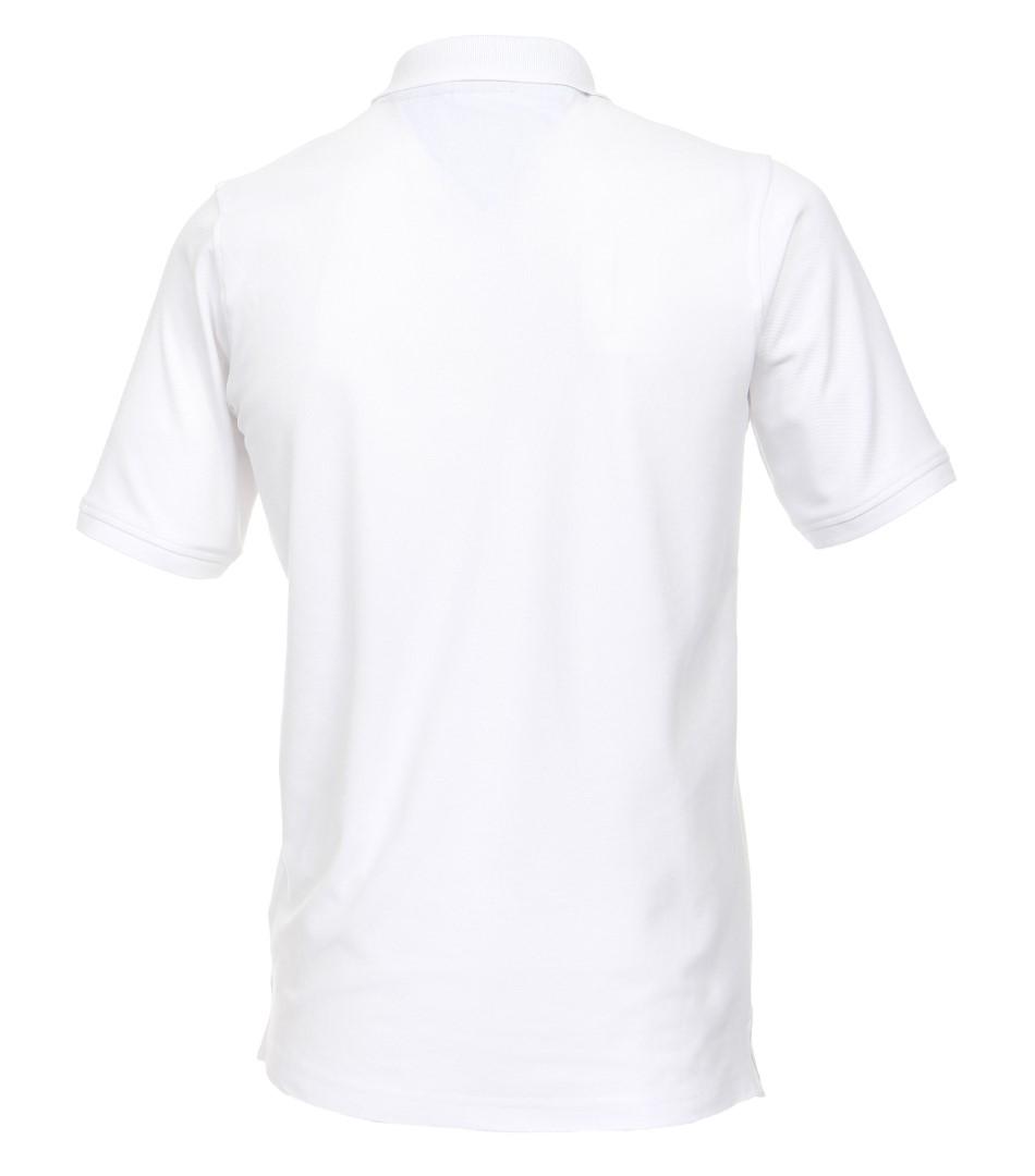 da1abd966b3b Kvalitné biele polo tričko s golierkom Casa Moda