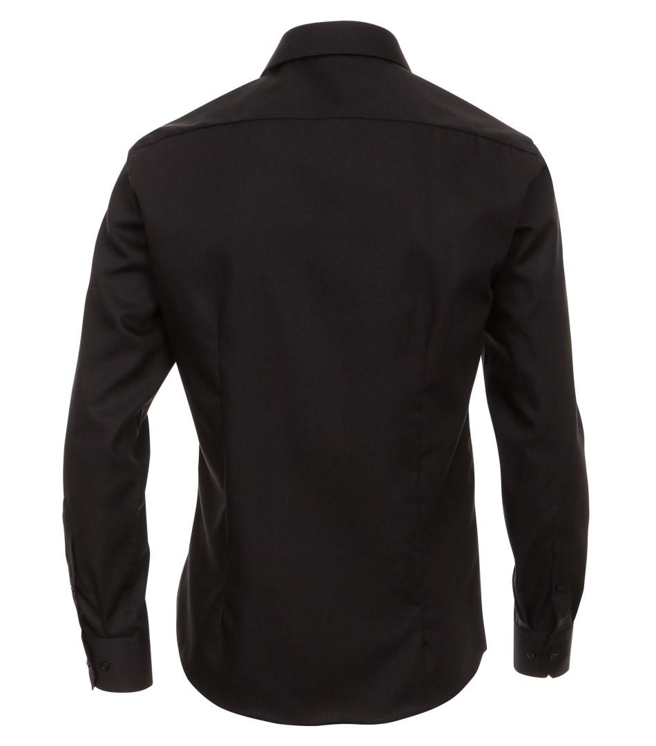 Černá pánská slim fit košile Venti - extra prodloužený rukáv d44a71a4f4