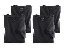Černé bavlněné tričko Olymp s krátkým rukávem - kulatý výstřih - výhodné balení 4 ks