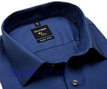 Olymp Super Slim – kovovo modrá košeľa
