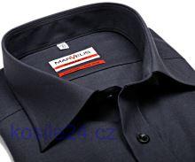 Marvelis Modern Fit Chambray – antracitová košeľa - krátky rukáv