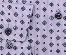 Olymp Luxor Comfort Fit - košile s jemným fialovým proužkem a tmavomodrým vzorem