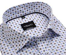 Venti Modern Fit – bílá košile s modro-černým vzorem