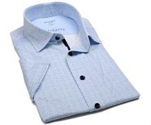 Olymp Modern Fit 24/Seven – luxusní elastická košile se světle modrým vzorem - krátký rukáv