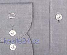 Olymp Level Five Chambray – svetlosivá košeľa - predĺžený rukáv