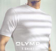 Bílé bavlněné tričko Olymp s krátkým rukávem - V-výstřih - výhodné balení 4 ks