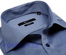Venti Modern Fit Twill – kovově modrá košile - extra prodloužený rukáv