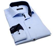 Eterna Modern Fit Cover - luxusní světle modrá neprůhledná košile s vnitřním límcem - extra prodloužený rukáv