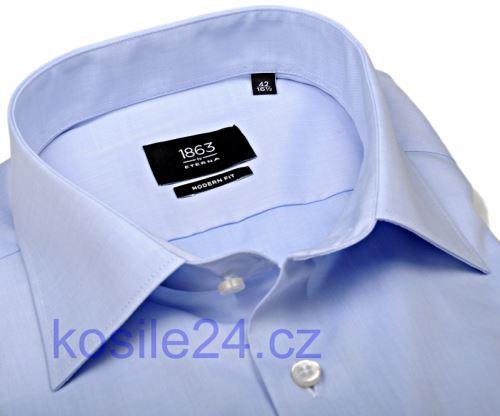Eterna 1863 Modern Fit Twill - luxusní světle modrá košile - prodloužený rukáv