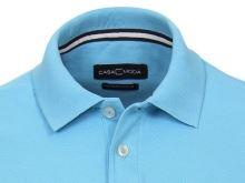 Polo tričko Casa Moda – tyrkysovo-modré tričko s golierkom