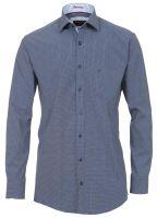 Casa Moda Comfort Fit Premium – luxusná modrá košeľa s bielym vzorom s  vnútorným golierom - fdd22c9fdb