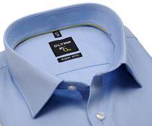 Olymp Super Slim Twill – luxusní neprůhledná světle modrá košile s diagonální strukturou