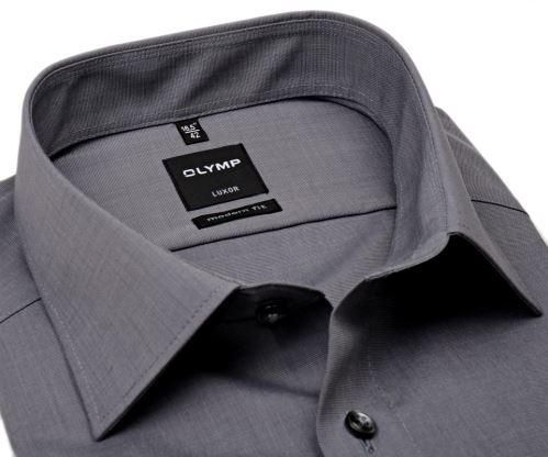 Olymp Luxor Modern Fit Fil a Fil - tmavě šedá