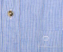 e1c5851551ee Olymp Casual Modern Fit – ľanová košeľa so svetlomodrým prúžkom - krátky  rukáv