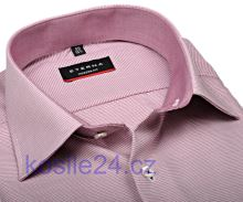 Eterna Modern Fit – košile s vetkaným červeným vzorem s vnitřním límcem a manžetou – prodloužený rukáv