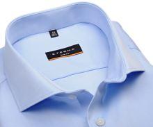 Eterna Slim Fit Twill Cover - luxusní světle modrá neprůhledná košile