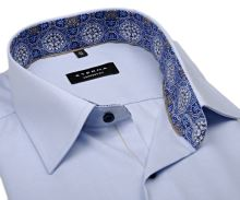 Eterna Comfort Fit – světle modrá košile s jemnou strukturou a vnitřním límcem - krátký rukáv