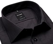 Olymp Luxor Modern Fit Chambray - tmavě šedá košile