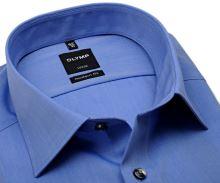 Olymp Luxor Modern Fit Chambray - modrá košile - krátký rukáv