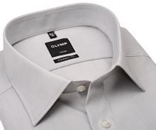 Olymp Luxor Modern Fit Chambray - svetlosivá košeľa