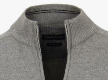 Bavlnený rozopínajúci pulóver Casa Moda – sivý