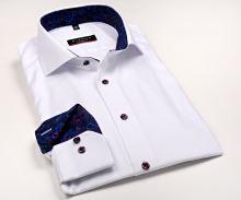 Eterna Modern Fit Fine Oxford – biela košeľa s jemnou štruktúrou, vnútorným golierom a manžetou
