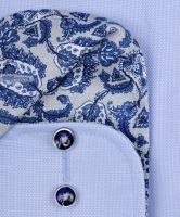 Casa Moda Modern Fit – svetlomodrá košeľa s dvojitým golierom - extra predĺžený rukáv