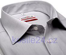 Marvelis Modern Fit Chambray – svetlosivá košeľa - krátky rukáv
