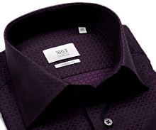 Eterna Modern Fit 1863 – fialová košeľa s votkaným vzorom
