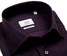 Eterna Modern Fit 1863 – fialová košile s vetkaným vzorem