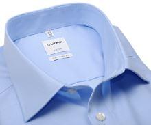 Olymp Comfort Fit Twill – luxusní neprůhledná světle modrá košile s diagonální strukturou