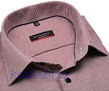 Eterna Modern Fit – vínově červená košile s vetkaným vzorem - extra prodloužený rukáv