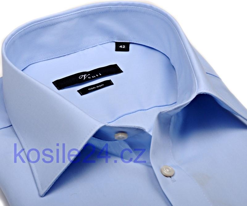 Venti Slim Fit Chambray – světle modrá košile - extra prodloužený rukáv dcada01f0f