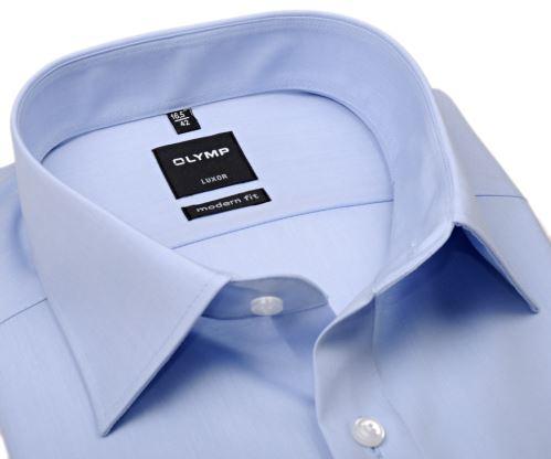 Olymp Luxor Modern Fit Chambray - světle modrá košile