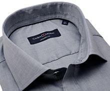 Casa Moda Modern Fit – šedá košile se zdobeným vnitřním límcem - prodloužený rukáv