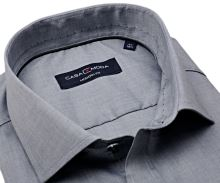Casa Moda Modern Fit – sivá košeľa s zdobeným vnútorným golierom - predĺžený rukáv