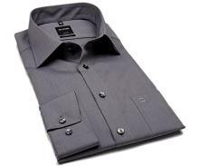 Olymp Luxor Modern Fit Fil a Fil - tmavosivá košeľa