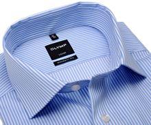 Olymp Modern Fit Twill – košile se světle modrým proužkem