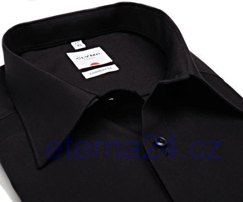 Olymp Luxor Comfort Fit - černá košile - krátký rukáv