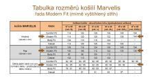 Marvelis Modern Fit – fialová košile s jemnou strukturou - krátký rukáv