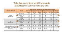 Marvelis Modern Fit Uni – čierna košeľa  - predĺžený rukáv