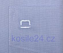 Olymp Luxor Comfort Fit Chambray - světle modrá - krátký rukáv