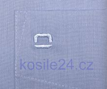Olymp Luxor Comfort Fit Chambray - svetlomodrá košeľa
