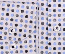 Venti Modern Fit – biela košeľa s modro-čiernym vzorom